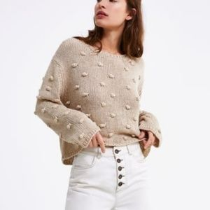 Zara 3D Bobble Pom Pom Sweater